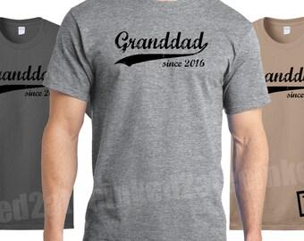 Granddad since any year Mens Tshirt custom funny