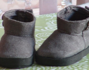 Grey Faux Suede Ankle Boot for American Girl