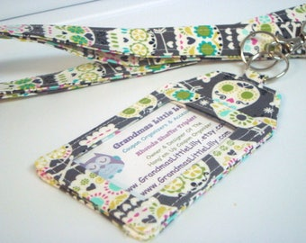 Lanyard - Key Chain / ID Holder  with Swivel Clasp and Key Ring Fabric ID Holder
