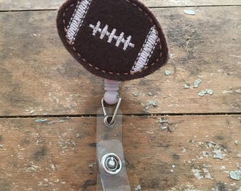 Football ID badge reel holder retractable clip