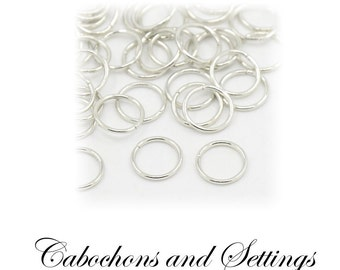 Silver / Platinum  Jump Rings by the Hundreds, Lots of Sizes to Choose from - AUSTRALIA