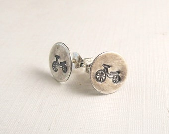 Bicycle Earrings - Bicycle Jewelry - Biker Earrings - retro