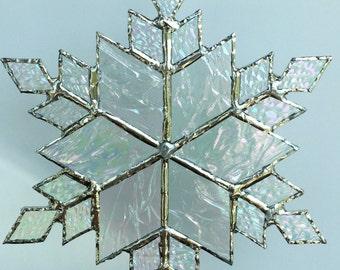 stained glass snowflake suncatcher (design 9B)