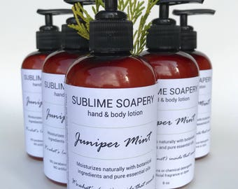 Juniper Mint Moisturizing Lotion, Pump Lotion, Natural Lotion, Lotion Pump, Peppermint Hand Lotion