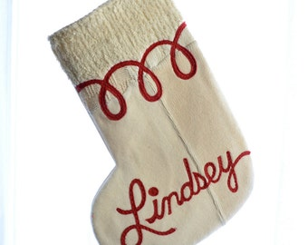 Christmas Stocking - Ivory - ONE