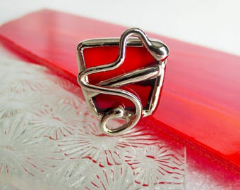 """Red Ring """"stained glass"""""""