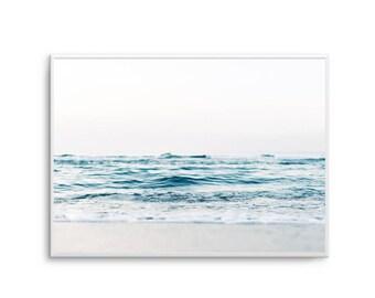Serene Oceans Print Ocean Breeze Print Poster Ocean Waters Poster Art Ocean Water Scandi Art Print - UNFRAMED