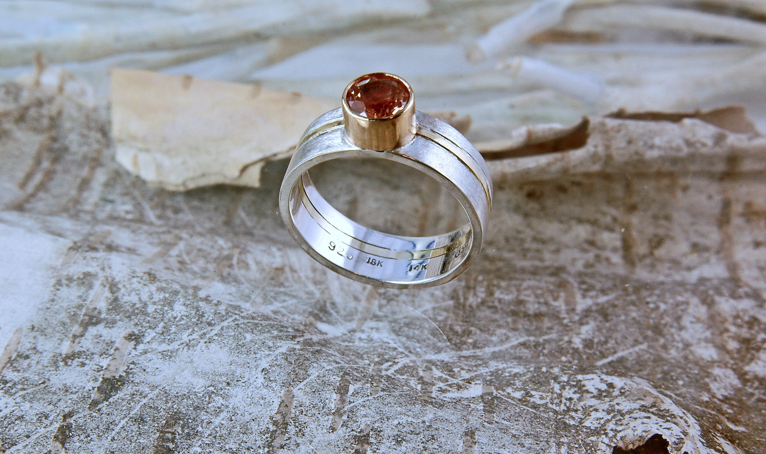 rings sunstone silver by rough sterling stone handcrafted engagement sun products ring co size ana