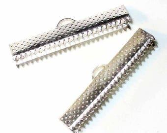 10 ribbons silver claws 20x6mm AC199 talons