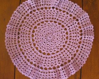 Lilacs Lace Doily Crochet Pattern