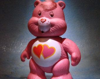 Vintage Care Bears Love-A-Lot Bear Action Figure