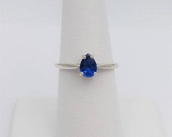 Sterling Silver Lab Spinel Ring