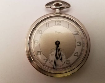 Beautiful 1950s Kienzle Pocket Watch With Radium Dial