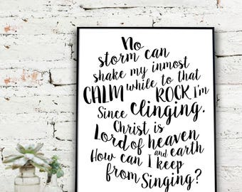 Instant Download Printable Art, Hymnal Print  | How Can I Keep From Singing  {DIGITAL PRINT}