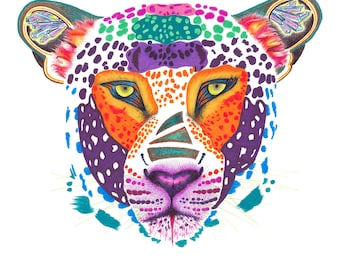 Leopard - 5 x 7 in greeting card