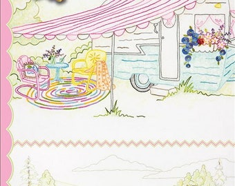 Crabapple Hill Studio Girls' Getaway #1 Pickup & Trailer 2553 Hand Embroidery Pattern