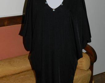 Dress plus size long lycra