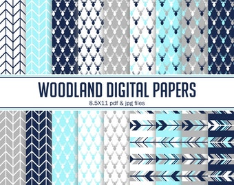 Instant Download Woodland Digital papers