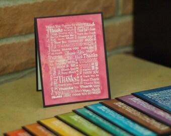 Watercolored Thank You Card - Single Card