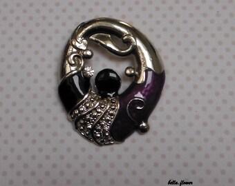 Purple Oval Pendant