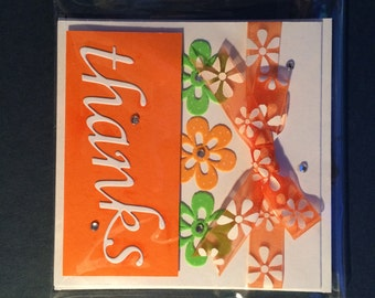 Thank you, Thanks Card (various colours available)