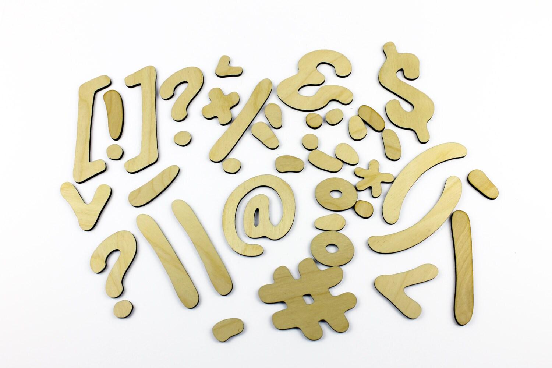 Medium Set of Wooden Punctuation Marks / Wall Hanging / Nursery ...
