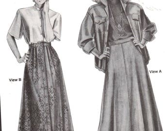 "Stretch & Sew 473, Sz 6-22/Hips 32-48"".  Ladies Midi A-line/Flared Skirts with pockets, UNCUT Ann Person sewing pattern"