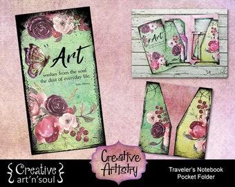 Creative Artistry Printable Traveler's Notebook Pocket Folder