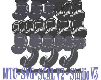 SVG Cut File Bundle Haunting Mansion Doom Buggy MTC SCAL Silhouette Cricut Cutting File