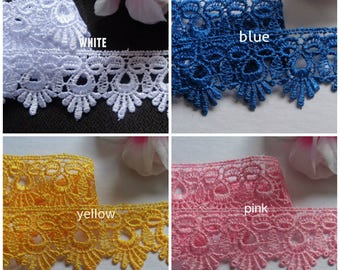 1 3/4 inch wide lace trim select color price for 1 yard