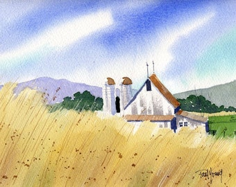 Harvest Ready-Print from an original watercolor painting