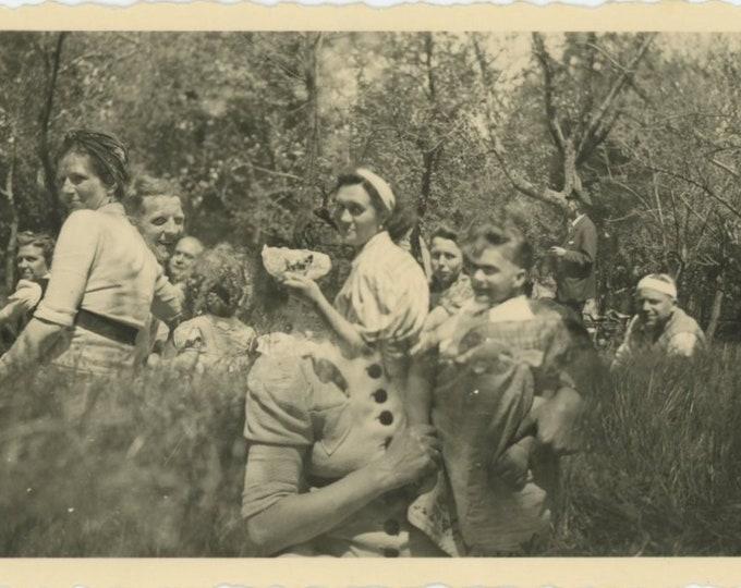 Double Exposure, 1947: Vintage Snapshot Photo [84662]