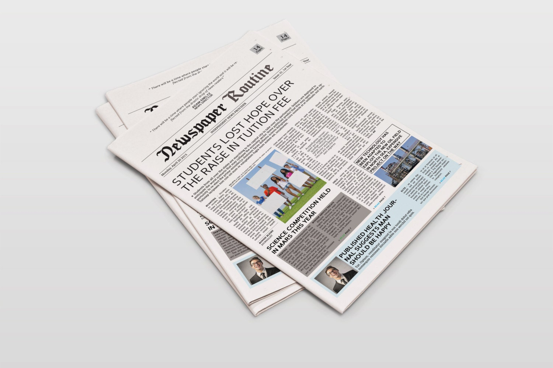 Plantilla de periódico tabloide tamaño