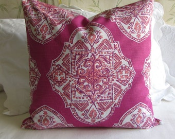 24x24 MALTA MULBERRY  large PILLOW cover