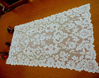 Vintage doily, lace of Lyon, Christmas gift Dresser top