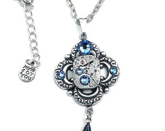 Steampunk Crystal Necklace