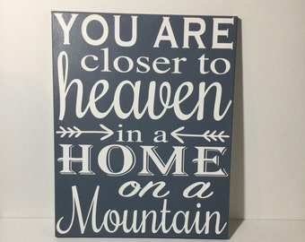 Wall art - Rustic home decor - Painted Canvas Sign - cabin decor- country wall art - country home decor - country quotes - mountain quotes