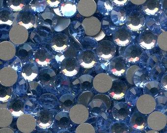 2012 SS20 lsa *** 30 Swarovski rhinestones flat back SS20 (4,7mm) light sapphire f