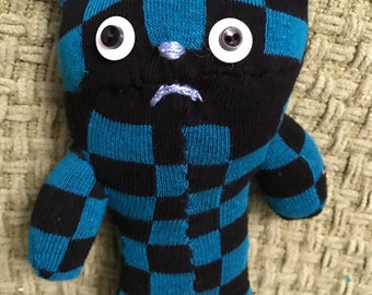 Handmade Checkered Sock Bear