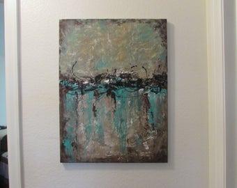 Original acrylic abstract 18 x 24