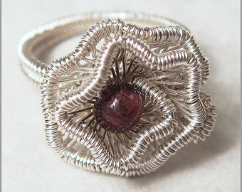 Crinkled Rosette Ring Tutorial