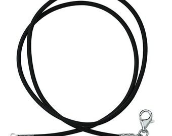 Rubber necklace length 50 cm