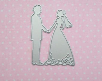 die cut couple man and woman. Die cut