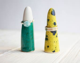 Ring Holder - Modern Ceramic Ring Cone - Ring Storage - Jewelry Organization - Ceramic Ring Cone holder - Ring display - Jewelry display
