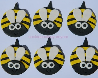 12 edible BEES GARDEN INSECT bug cake cupcakes wedding topper decoration party wedding anniversary birthday valentine
