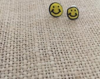 Smily Face Stud Earrings