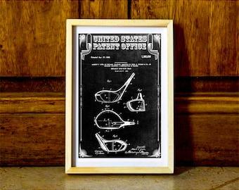 Golf Club Head Patent – Patent Print, Wall Decor, Golf Art, Golfer Gift, Golfing Print, Golf Players, Vintage Golf, Golf Poster, Golf Decor