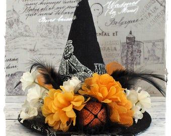 SALE!! Witch Hat Decoration Black Skeleton