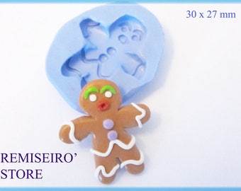 Mold gingerbread d spice 30 x 27 mm silicone.