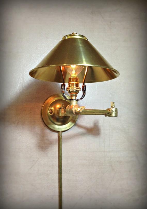 Adjustable Articulating Wall Mount Light Plug In Metal
